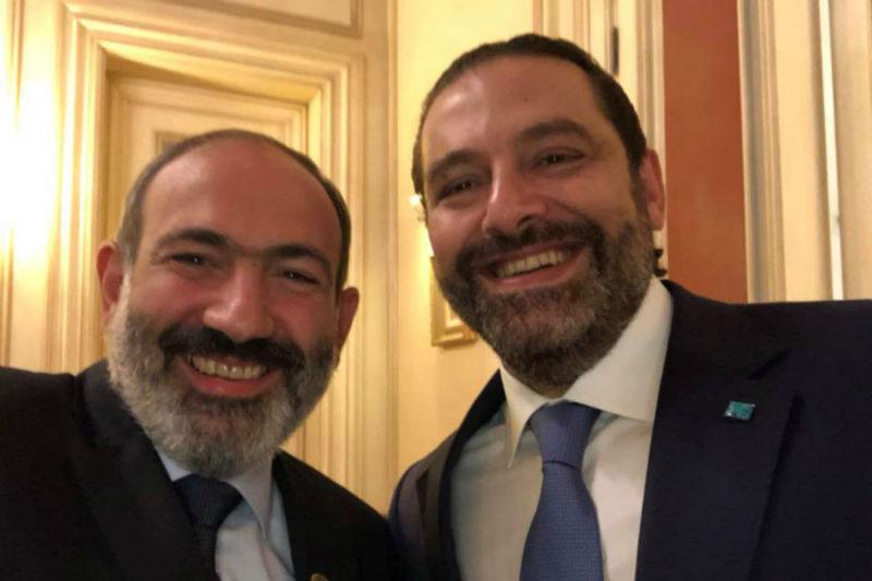 سعد الحريري يجري اتصالا هاتفيا مع نيكول باشينيان