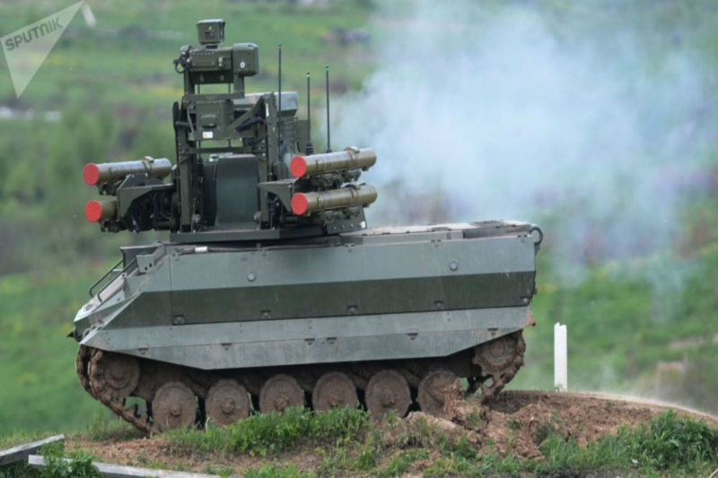 روسيا تجرب روبوتات قتالية في سوريا.. وأرمينيا تشتري الطراز الأحدث من رشاشات كلاشنيكوف
