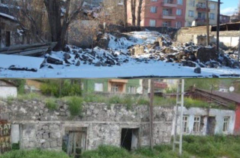 الأتراك يهدمون منزل الشاعر يغيشة تشارينتس في كارس