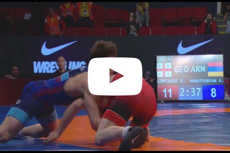 أرسين هاروتونيان يحرز بطولة أوروبا للمصارعة الحرة بوزن 61 كغ
