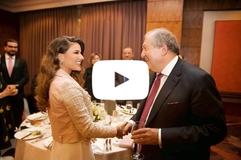 آرمين ساركيسيان في الأردن والمذيعة الأرمنية الأصل فينيسا آرتورو تحاوره