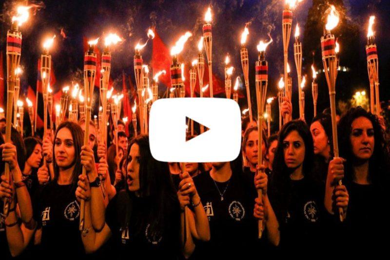 بث مباشر: مسير بالمشاعل عشية الذكرى 104 للإبادة الأرمنية