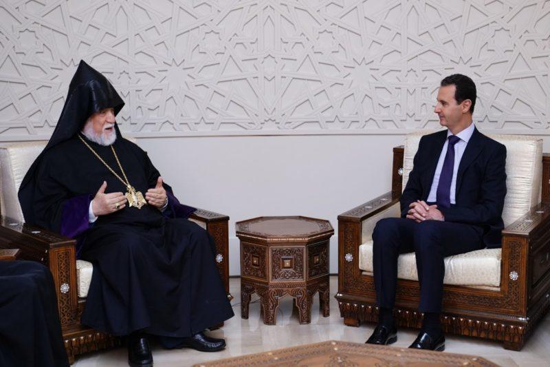 الأسد مستقبلا كيشيشيان: ما يحدث في سوريا يذكرنا بوحشية مجازر العثمانيين بحق الأرمن