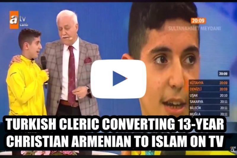 جدل في تركيا بعد إجبار طفل أرمني على اعتناق الإسلام على الهواء مباشر